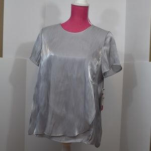 Vince Camuto Oasis Bloom Silver Blouse